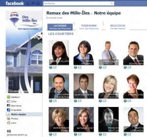 Nouveau service onglet facebook