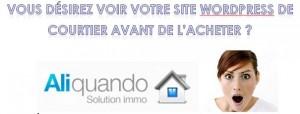 Site web pour courtier ALIQUANDO !