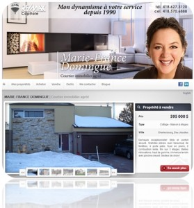 Image site web immobilier de Mme Domingue