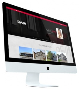 ALIQUAND LE - Exemple site web courtier immobilier