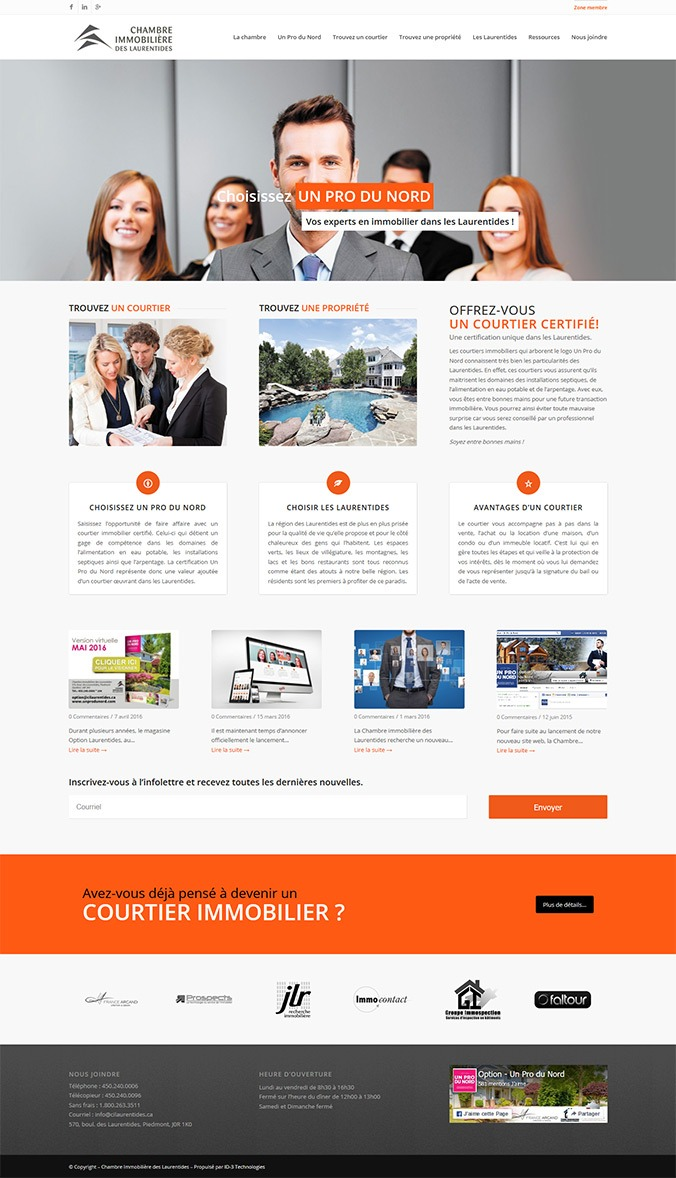 Chambre immobili re des laurentides id 3 technologies for Chambre immobiliere