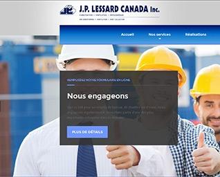site web JP Lessard Canada