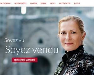 site web Catherine Dawe courtier immobilier par ID-3 Technologies