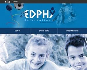 site web Edphy International camp de jours et vacances par ID-3 Technologies