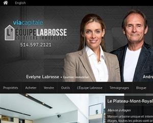 """site web L""""équipe Labrosse courtiers immobiliers Via Capitale par ID-3 Technologies"""
