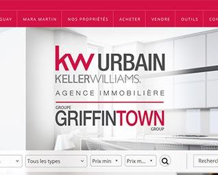 site web KW Urbain groupe Griffintown agence immobilière par ID-3 Technologies
