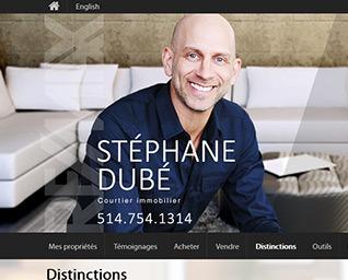 site web courtier immobilier Stéphane Dubé par ID-3 Technologies