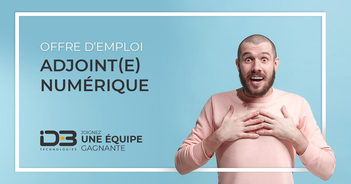Adjoint(e) numerique - offre d'emploi