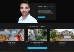 Site Web Courtier Immobilier ViaCapitale Martin Lemay