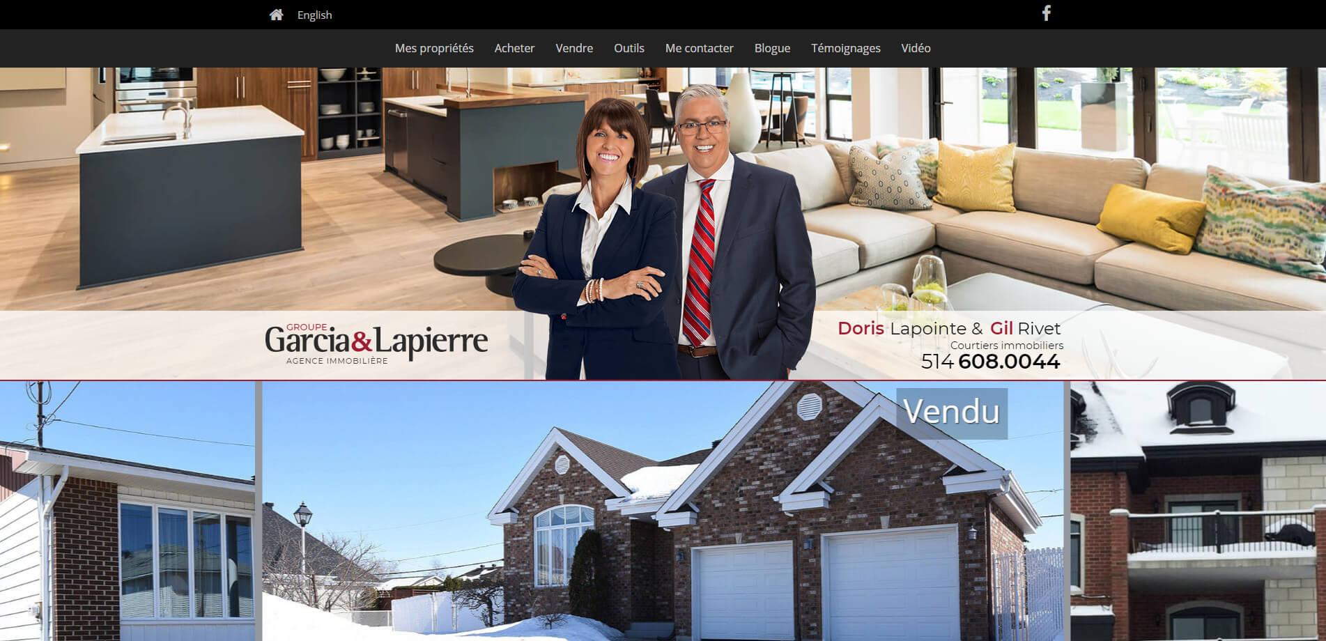 Site Web Pour Courtiers Immobiliers Gil Rivet Et Doris